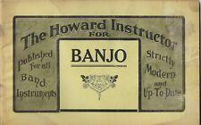 c1905 Howard Instructor for BANJO~Vintage Sheet Music & Instruction Booklet