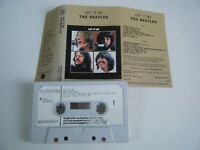 THE BEATLES LET IT BE CASSETTE TAPE 1970 WHITE PAPER LABEL APPLE EMI UK