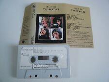 THE BEATLES LET IT BE CASSETTE TAPE 1970 WHITE PAPER LABEL APPLE EMI UK