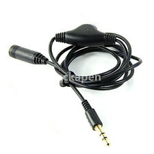 3.5mm M/F 1M Stereo Headphone Audio Extension Cord Cable with Volume Control UE