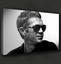 STEVE MCQUEEN RETRO ICONIC FILM BOX CANVAS PRINT WALL ART PICTURE