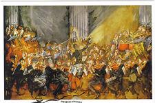 """Kunstpostkarte  -  Max Oppenheimer: """"Das Orchester"""" Mahler dirigiert die Wiener"""