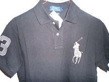 Ralph Lauren Para Hombres Camisa Polo PONY POLO negro gran tamaño S NUEVO CON ETIQUETAS