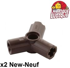 Lego technic - 2x Axle pin connector triple étoile marron f/dark brown 10288 NEW