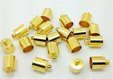 3mm 20pcs  Fold Over End Cord Crimp Bead Caps Gold Plated  End Caps