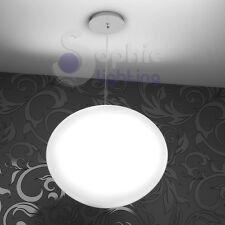 Lampada sospensione design moderno cromo  vetro soffiato globo bianco cucina