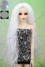 7-8 1/4 BJD Wig Dollfie Curly Hair Long White SD LUTS Doll DZ DOD Soom Volks #AL