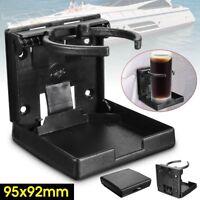 Adjustable BLACK Folding Drink Cup Holder Mount Boat Marine Caravan Car