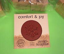A Wild Soap Bar COMFORT & JOY 3.5oz FRESH body red clay Frankincense Myrrh oils