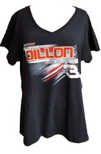NASCAR Fanatics Ty Dillon Womens XL Black Tee 2014 XFINITY Series T-Shirt V-Neck