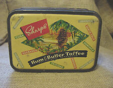 SHARPS RUM & BUTTER TOFFEE TIN KING GEORGE VI MADE IN ENGLAND VINTAGE vtm
