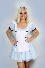 Sexy Halloween Para Mujer Alice in Wonderland fancy dress costume Traje S M L