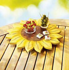 Holz Drehteller Servierplatte Sonnenblume 34 Cm Top Dekoration