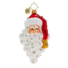 New Christopher Radko Grinning Santa Christmas Ornament 1019914