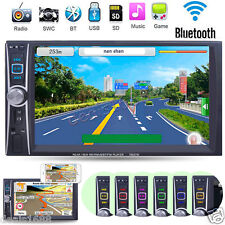 """Double 2Din 7"""" Touch Bluetooth Car Stereo MP3 MP5 Player HD In Dash TV Radio FM"""