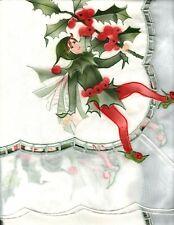 Cicely Mary Barker Flower Fairies Holly Fairy Hossner Heimtx Tablecloth 32 x 32