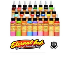 ETERNAL TATTOO INK Original Set Popular TOP Selling 25 Colors 1 oz Ounce 100%