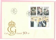 KING CARL XIV GUSTAF ROYAL FAMILY OF SWEDEN  1996 FDC SLANIA