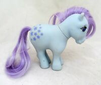 VTG My Little Pony Blue Horse Figure G1 Purple Hair Stars Belle Bell 1982