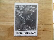 1961 VINTAGE LEAF SPOOK STORIES UNIVERSAL MONSTERS CARD # 3 DINOSAUR, T-REX
