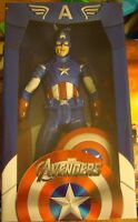 """NIB Captain America Marvel Avengers 1/4 Scale 18"""" Tall With Shield"""