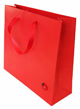 3x RED PAPER GIFT PARTY BAGS SATIN HANDLES LADYBIRD ALL OCCASIONS 16Hx18Wx6Dcm