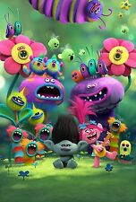 TROLLS MOVIE CAST POSTER - POPPY - MUSICAL ANIMATION PHOTO PICTURE WALL ART