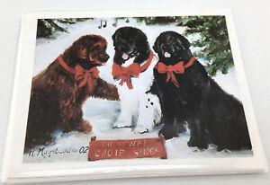 NEW Newfoundland Newfies Xmas Big Dogs Christmas Holiday Blank Note Cards Set 8