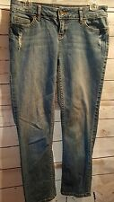 Vera Wang womens denim jeans size 4 button back pockets Simply Vera distressed