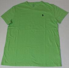 Polo Ralph Lauren Mens Classic Fit V-neck Logo T Shirt Green Regular M