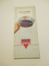 Vintage 1960 CONOCO Oklahoma Oil Gas Service Station Road Map