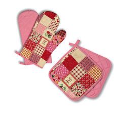 Küchenhandschuhe Handschuhe 1 Paar + 2 Topflappen Patchwork