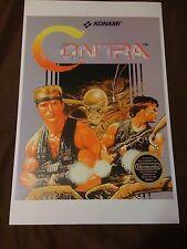 Contra 11x17 Box Art Poster - Nintendo NES No Game Action -
