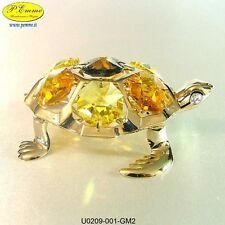 TARTARUGA DI MARE 24K GOLD PLATED CRYSTOCRAFT BOMBONIERE OGNI RICORRENZA SPECIAL