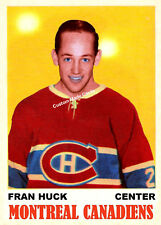 Custom made OPC 1970-71 Montreal Canadiens Fran Huck Hockey  card