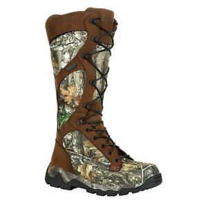 """Rocky RKS0449 Men's Red Mountain Waterproof Snake 16"""" Zip Hunting Boots Shoes"""