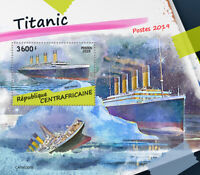 Central African Republic 2019 MNH Titanic 1v S/S Boats Ships Nautical Stamps