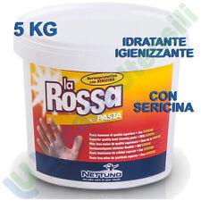 Pasta Lavamani NETTUNO Sgrassante Crema Sericina LA ROSSA 5Kg Meccanico Officina