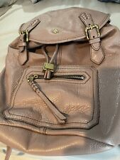 orYany Taupe Leather Backpack Purse