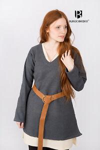 Medieval Tunic Women Viking Warrior /Larp - Grey By Burgschneider