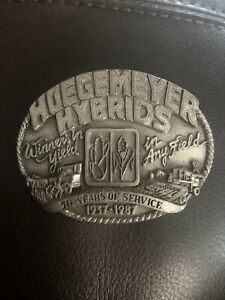 Hoegemeyer Hybrids 50 Years Of Service Belt Buckle Limited Edition