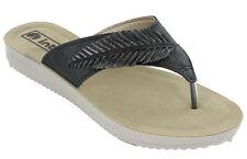 Womens Toe Post Sandals Inblu Flat Summer Holiday Soft Padded Comfort Shoes