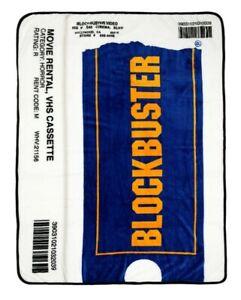 "Blockbuster VHS Case Plush Throw Blanket 45""x60"""