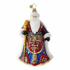 "Radko Santa's Christmas Cape 7"" 1018668 Santa With Ornate Robe Ornament NWT"