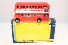 "Corgi Toys 469 London Routemaster Bus "" Selfridges "" very near mint in box"