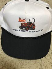 Kioti Tractor Snapback Adjustable Trucker Cap Hat Rope Bigger Bite for Your Buck