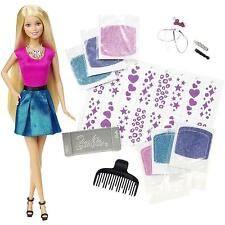 Barbie Glitter Hair Styling Doll Design Salon