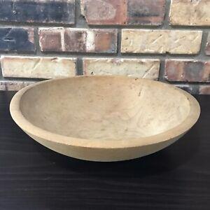 """Antique Primitive Round Oval Wood Wooden Farmhouse Dough Bowl 10 1/8"""" x 10 7/8"""""""