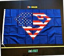 New listing Superman Usa Flag Free First Class Ship Batman Superwomen Joker Super man Banner