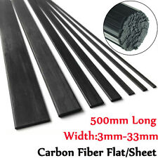10X 500mm Carbon Fiber Flat Strip Square Sheet Bar Plate For RC Airplane Parts